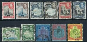 Bermuda 1938, Definitives (part set of 11 values) sg110/118f, Fine Used