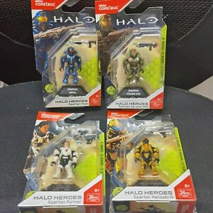 Mega Bloks Construx Halo Series 3 SPARTAN HOYA & Jerome-092 &Palmer&Helioskrill