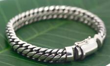"Handmade Solid Bali .925 Sterling Silver Ben Weave Bracelet. Size 8.25"""