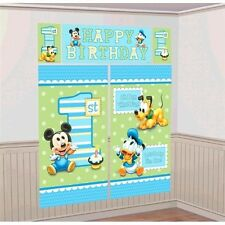 Mickey Mouse 1st Birthday Party Scene Setters Wall Decorating Kit 5 Pieces
