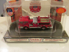 Code 3 FDNY Mack C Pumper E 65 # 12380  Mint in Dome w/ Sleeve  FREE 1/2 Postage