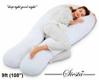 9 Ft U Pillow Comfort Body Back Support Nursing Maternity Pregnancy Extra Fill A