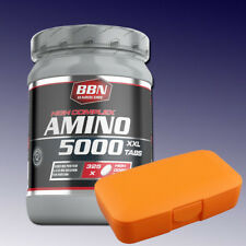 (28,86€/kg) Best Body Hardcore Amino 5000 325 Tabletten + Pillenbox Orange
