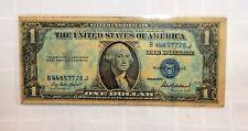 "1935F $1 Silver Dollar Note ✯ RARE ""BJ"" Block Silver Certificate+ Blue Color!"