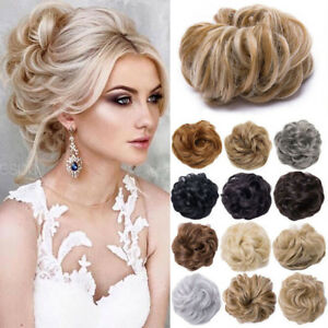 Lady Curly Messy Bun Hair Piece Chignon Hair Bobble Scrunchie Extensions 40g TE6
