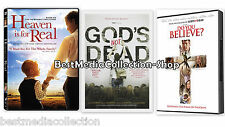 3 Pack Heaven Is Fo Real - Gods Not Dead - Do You Believe DVD NEW SHIPS TODAY !