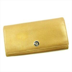 Loewe Wallet Purse Monogram Mini Agenda Gold Woman Authentic Used T4616