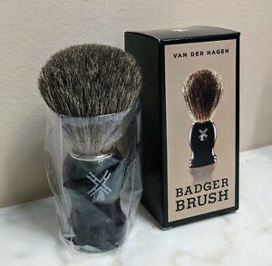Van Der Hagen Badger Shaving Brush 100% Badger Hair New In Box
