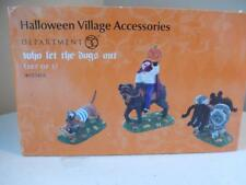 Department 56 Halloween Who Let the Dogs Out Set of 3 #4025412
