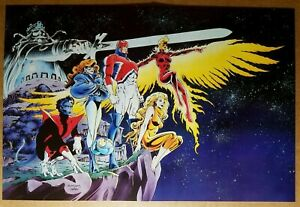 Excalibur Captain Britan Nightcrawler Marvel Comics Poster by Alan Davis