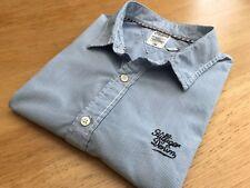 Tommy Hilfiger Denim Reg Fit Blue Fine Stripe 100% Cotton Shirt - UK Size XL