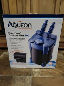 Aqueon QuietFlow Canister Filter 300 GPH, For Aquariums Up to 75 Gallons -OFFER-