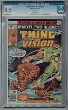 MARVEL TWO-IN-ONE PRESENTS THING & VISION #39 CGC 9.2 NM- WP MARVEL COMICS 1978