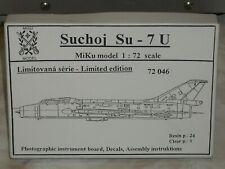 Miku Model 1/72 Scale Resin Sukhoi Su-7U Conversion Set
