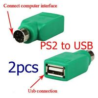 PS/2 Round male to USB Female Adapter Converter head for Computer Keyboard Mouse