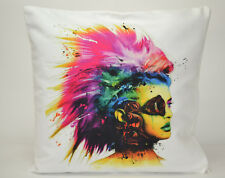 Patrice Murciano Cyber Punk Girl Tie Dye Hippy Cushion Covers Pillow Case Faux