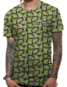 RICK AND MORTY- REPEAT PATTERN SUBLIMATION Official T Shirt Mens Licensed Merch