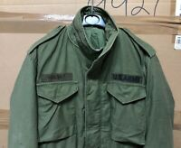 GENUINE US ARMY LATE VIETNAM M65 FIELD JACKET 1978 GC - VG COND !!! SMALL LONG