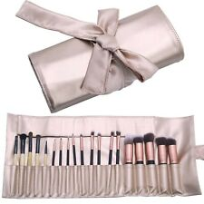 Makeup Brush Organizer Rolling Bag Cosmetic Case PU Leather Brush Holder Travel