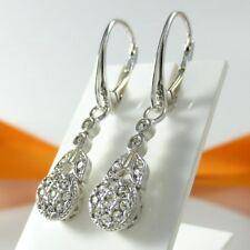 A768 Ohrringe Earrings 925 Silber Schmuck mit Swarovski Elements Kristallsteine