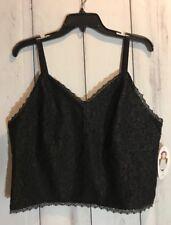 Women's Plus Size 1X Cami Lace Black Ashley Nell Tipton Boutique NWT
