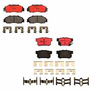 Brembo Front Rear Ceramic Brake Pad Set Kit For Acura CL Integra Accord Prelude