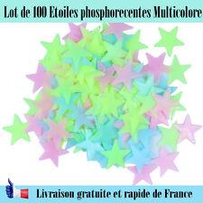 Décoration étoile phosphorecente chambre d'enfant multicolor brille dans le noir