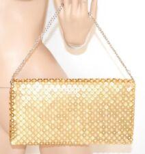 BOLSO CLUTCH bag oro mujer strass cristales elegante ceremonia fiesta torba 75N