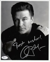 Alec Baldwin signed autographed 8x10 BW portrait photo inscribed Best wishes JSA