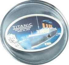 Titanic-Silver Coin, 5 dollars, Polished Plate, Cook Islands, 203880