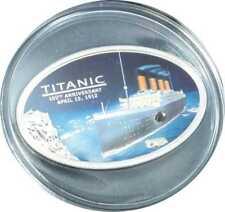 Titanic-moneda de plata, 5 dólares, placa pulida, islas cook, 203880
