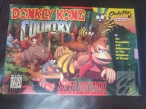Donkey Kong Country Super Nintendo 1994 Rare. Near Mint. Game is unopened!