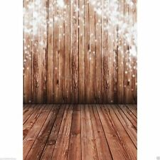 3X5FT Wood Wall Floor VINYL BACKDROP Photography Studio Prop Background FLOOR