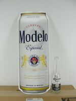 MODELO ESPECIAL CERVEZA STEEL METAL TIN BEER CAN SIGN TACKER ADVERTISING NEW NIB