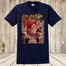 New Fire And Flame 1905 Antique Sheet Music Fireman / Hose Wagon Shirt