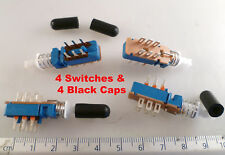 Campolin Latching Push Switch 2 Pole 2 Throw PCB + Caps 4 Pieces OM1168