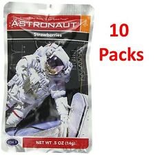 10 Packs of Strawberries NASA Astronaut Space Food Freeze Dried