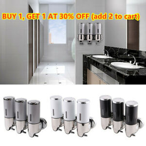WALL MOUNTED SOAP DISPENSER SHOWER GEL SHAMPOO LOTION CONDITIONER 1500ML