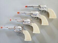 Set of 4 Vintage Daisy Die Cast Toy Cowboy Cap Guns