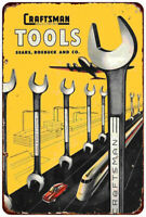 1948 Craftsman Mechanics Tools Reproduction Vintage Look metal sign 8 x 12
