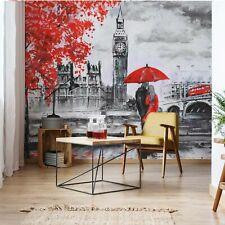 London Red Black White Art Painting Photo Wall Mural Fleece Easy-Install Paper