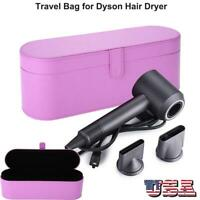 Hair Dryer PU Leather Storage Box for Dyson Supersoni Travel Carry Case US