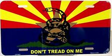 License plate Arizona State Don't Tread On Me new aluminum auto tag USA LP-5421