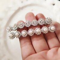 Women Hairpin Pearl Rhinestone Hair Clip Barrette Headwear Exquisite Jewelry