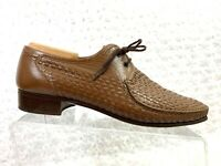Holbrook Brown Men's Woven Upper Leather Oxford Size US 11