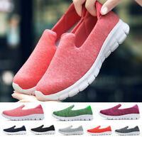 Women Casual Walking Shoes loafers jogging Breathable Sneakers Flat Stretch Sole