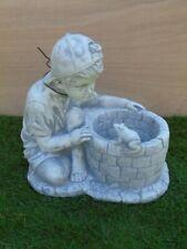 jardinière le garçon et la grenouille en pierre pat , grand choix !!