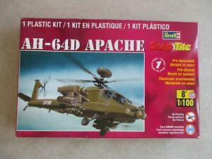 1/100 SCALE AH-64D APACHE SNAP TITE MODEL KIT BY REVELL 2011 IN BOX #85-1373