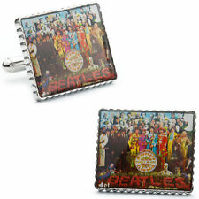 THE BEATLES SGT PEPPERS LONELY HEARTS CLUB AUTHENTIC STAMP ALBUM COVER CUFFLINKS