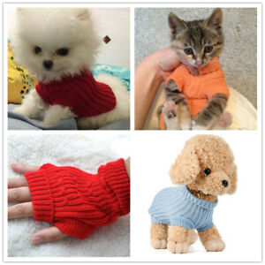 Dog Sweater Puppy Knitted Jumper Teacup Yorkie Pet Apparel for Maltese XXXS XXS